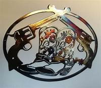 western wall decor Cowboy Boots and Pistols, Western Wall Decor Metal Art, 23 ...