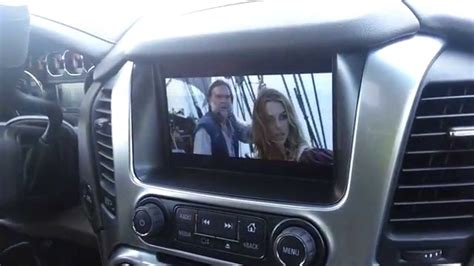 chevy tahoe  dash  ceiling mounted bd  dvd