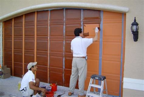 how to paint a garage door how to paint garage door efficiently and perfectly home