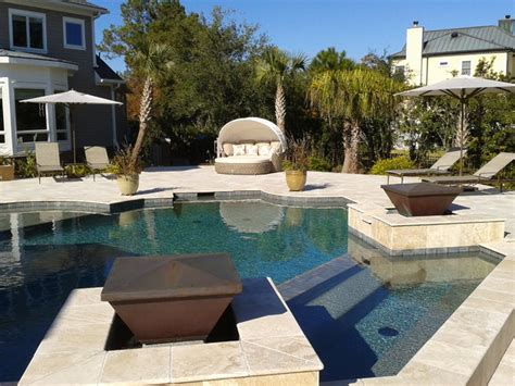 patio furniture around the pool traditional pool