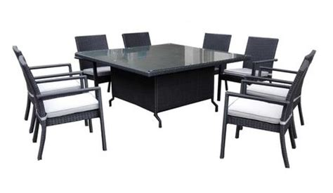 walmart canada outdoor dining sets henryka 9 dining patio set with cushions black