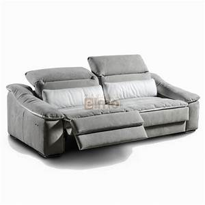 canape relaxation italien tetieres relevable cuir With tapis chambre enfant avec canape cuir bicolore relax