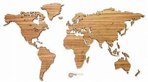 Mapawall Wooden World Maps