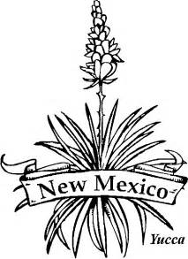 New Mexico State Flower Coloring Page