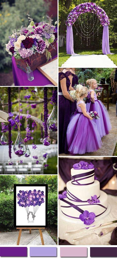 purple wedding ideas 2016 wedding color ideas gorgeous purple wedding color palettes