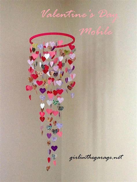 hometalk diy valentines mobile hanging hearts