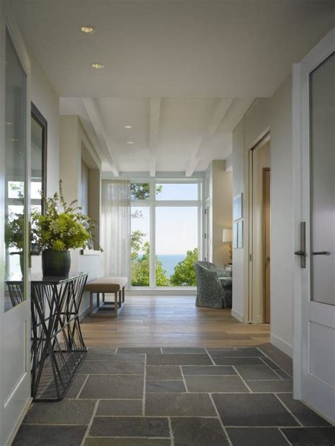floor mirror in entryway cool front entry with slate tile flooring and modern