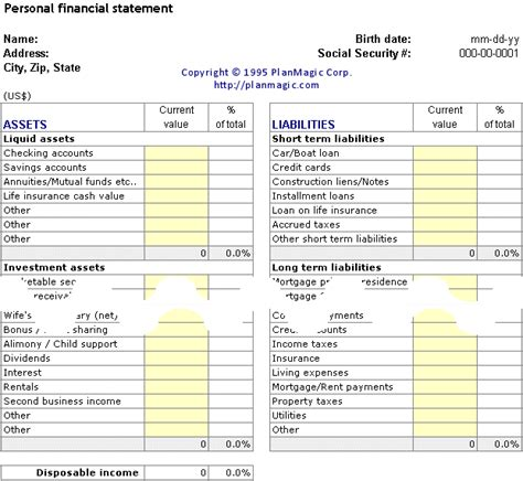 19 Personal Financial Plan Templates  Make Money Online With Affiliate Marketing