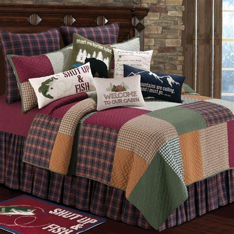 rustic bedding fullqueen size big creek quiltblack