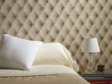 papier peint chambre adulte tendance papier peint aspect tissu tête de lit et photo 5