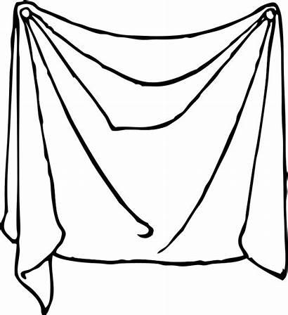 Sheet Clip Draped Drape Clipart Sheets Bed