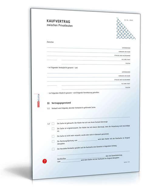 Kaufvertrag Ohne Unterschrift by Kaufvertrag Zwischen Privatleuten Muster Zum