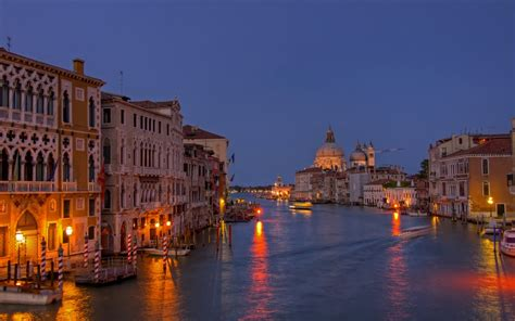 night view grand canal venice italy wallpaperscom