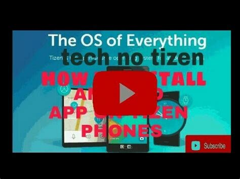 how to install android app on tizen samsung z3 z2 z1 z4
