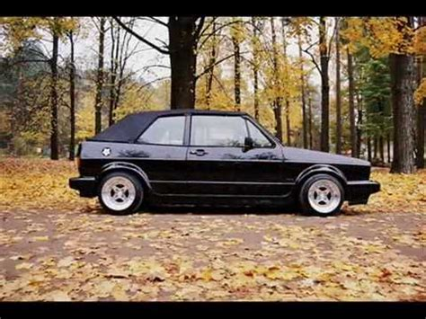 vw golf mk1 cabriolet convertible black and silver colors