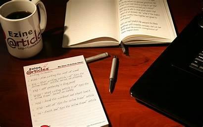 Writer Wallpapers Desk Writing Writers Desktop Ezinearticles