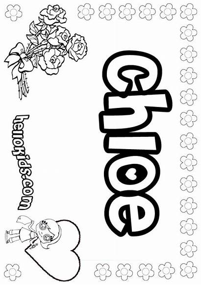 Coloring Pages Chloe Sheets Bubble Letters Colouring