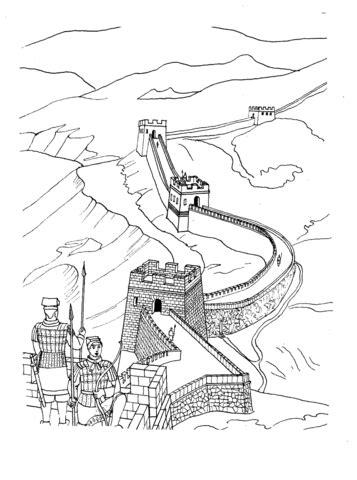 ausmalbild die chinesische mauer ausmalbilder kostenlos