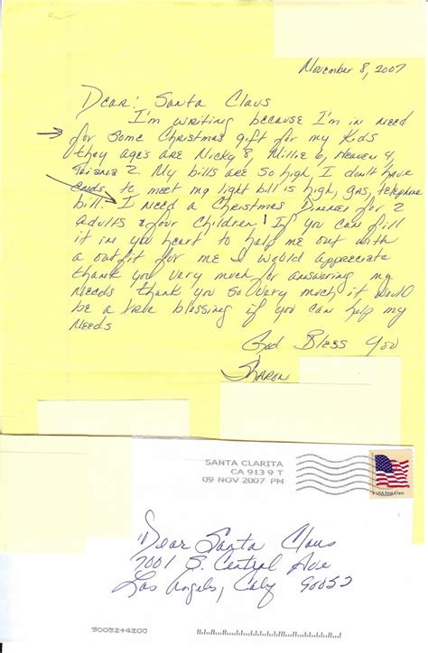 real letters operation santa program usps letters