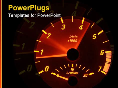tachometer revving powerpoint template background