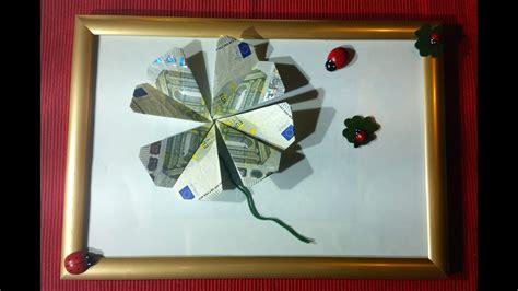 kleeblatt falten geld falten geldgeschenk origami