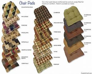 Cotton Tufted Chair Pads with Ties