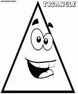 Triangle Coloring Pages Print Triangle1 sketch template