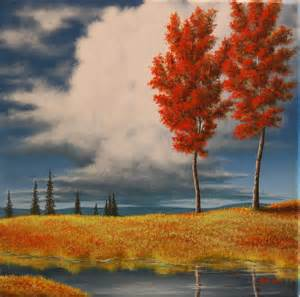 Acrylic Painting Fall Trees