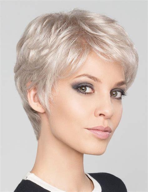 Short Pixie Cut Silver Grey Hair Wig Uk