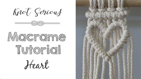 macrame tutorial   heart youtube