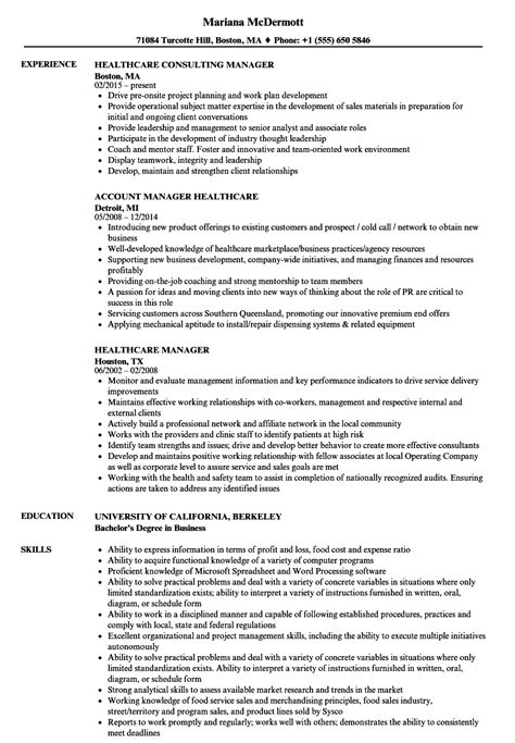 Healthcare Manager Resume by Epub Descargar Accounts Manager Resume Format