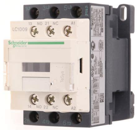 lc1d09q7 contacteur avec contacts 3no 9 a 380 v c a schneider electric