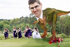 Bridesmaids running from a dinosaur 9000things a diy for Photoshop wedding photos