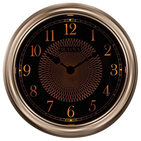 light time wall clock by bulova outdoor wall clocks
