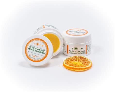Apelsīnu un laima sviests sausai un nogurušai sejas ādai