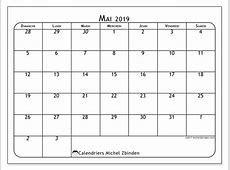 Calendriers mai 2019 DS Michel Zbinden fr