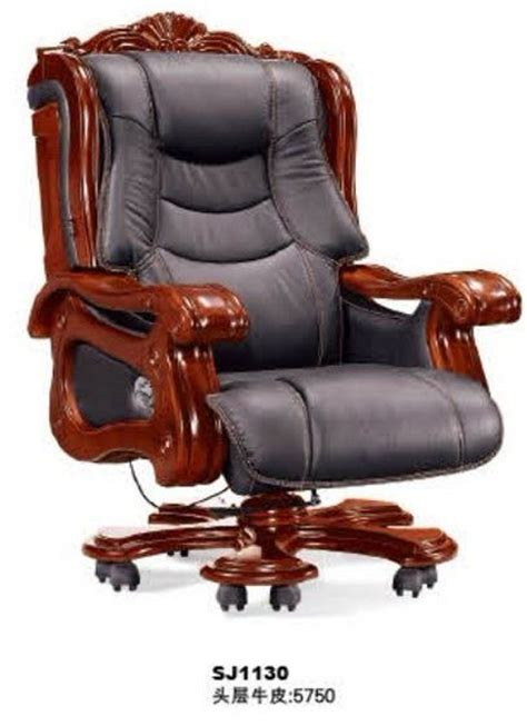 sj1130 deluxe genuine leather president office chair