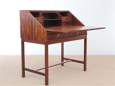 mid century secretary desk mid century rio rosewood secretary desk 1960s for sale at