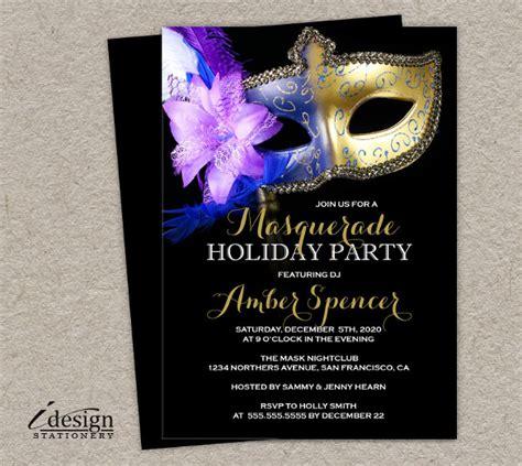 masquerade invitation templates word psd ai eps