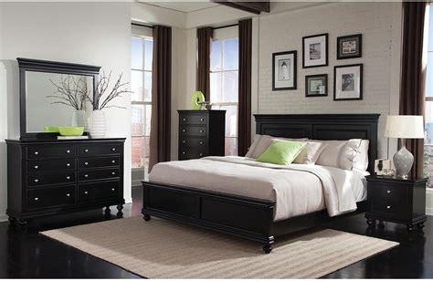 Bridgeport 5piece Queen Bedroom Set  Black  The Brick