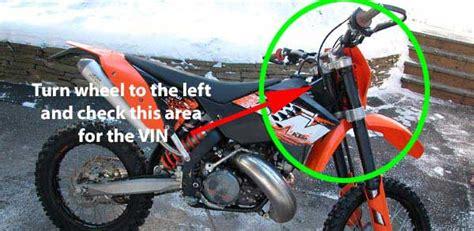 Motocross Frame Number Check