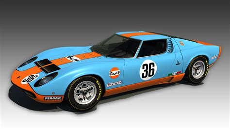 Ks Lamborghini Miura Sv  Gulf Racing Racedepartment