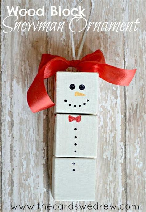 diy snowman wood block ornament christmas ornament