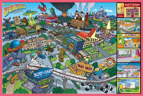 fernseh location the simpsons locations tv serie fernseh poster druck