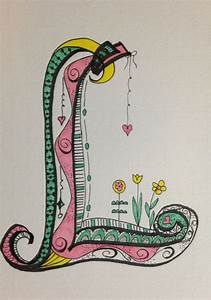 my zen tangle doodle art working on the alphabet my With letter artwork