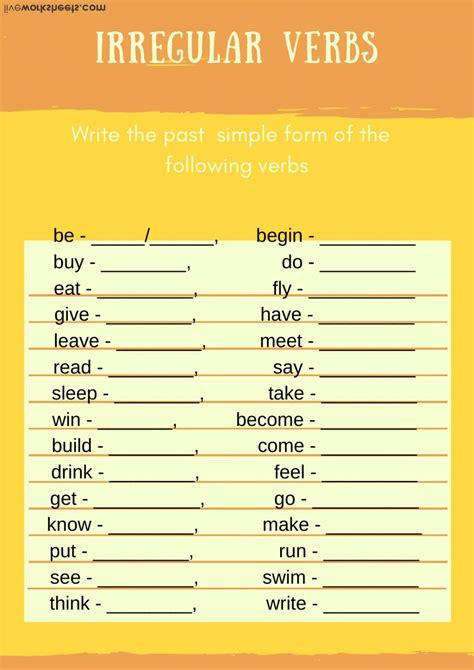 irregular verbs interactive activity  beginners