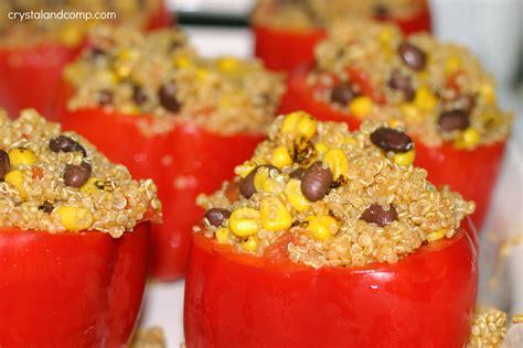how to make stuffed peppers easy quinoa recipe stuffed bell pepper