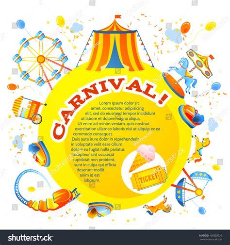 amusement entertainment carnival theme park design stock