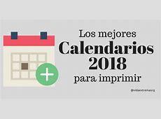 Calendario 2018 para imprimir Increíble colección gratis