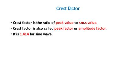 form factor of square wave eee average value root mean square value rectified mean